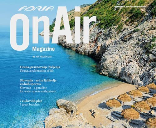 Adria Airways - On air magazine portfolio